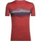 Icebreaker Tech Lite Cook Reflected SS Crewe Shirt Men vintage red